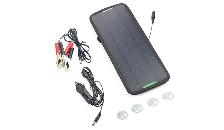 ALLPOWERS 18V 5W Portable Solar Car Battery Charger Bundle