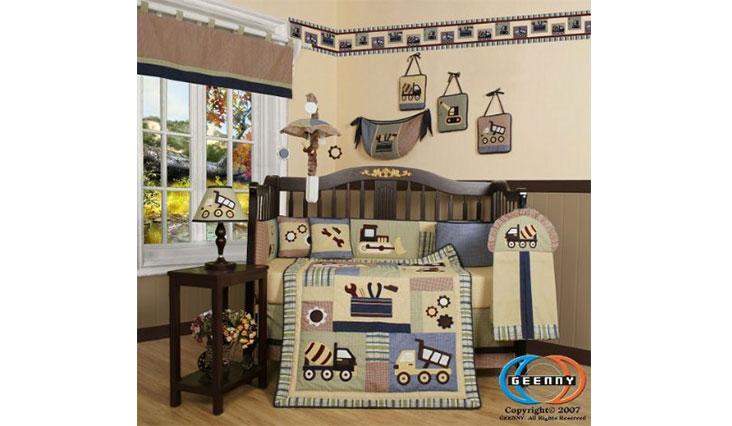 GEENNY Boutique 13 Piece Crib Bedding Set