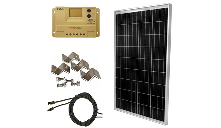 WINDYNATION Complete Solar 100 Watt Panel Kit
