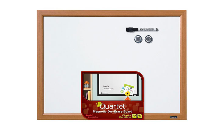 Quartet Dry Erase Board, Magnetic, 17 x 23 Inches, Assorted Frame Colors - Color May Vary (MWDW1723M)
