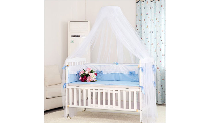 Mosquito Net - Foxnovo Toddler Bed Crib Canopy Mosquito Netting
