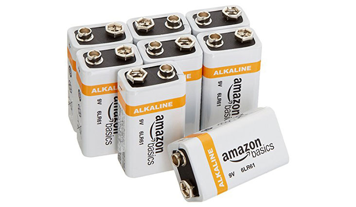 AmazonBasics 9 Volt Everyday Alkaline Batteries