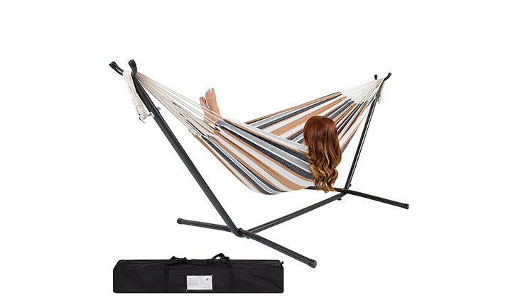 Best Choice Products Double Hammock, Desert Stripe