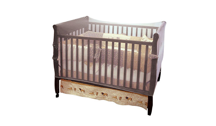 Nuby Baby Crib Netting, Universal Size, White, Baby Bed Mosquito Net Tent