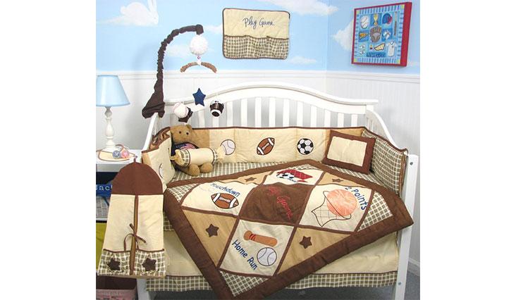 SoHo Let's Play Game Baby Crib Nursery Bedding Set