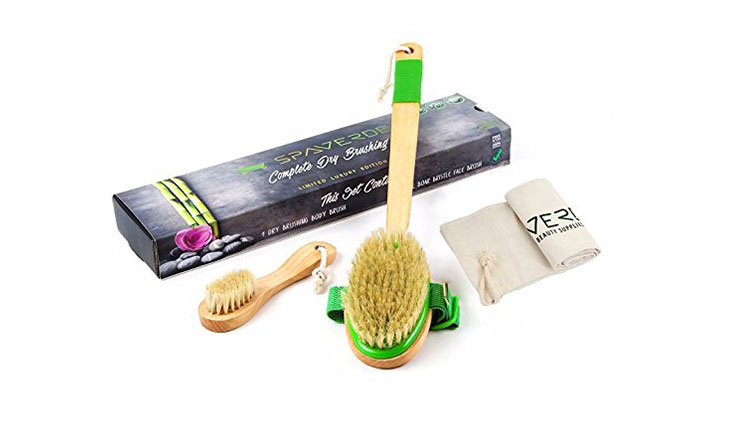 SpaVerde Natural Boar Bristle Body Brush