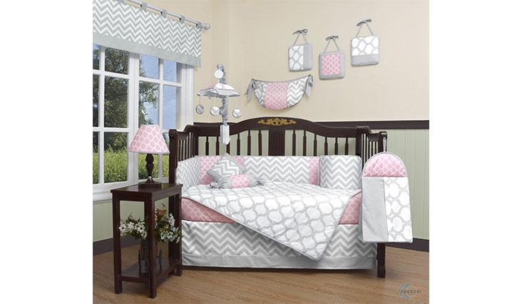 GEENNY Boutique Baby 13 Piece Crib Bedding Set