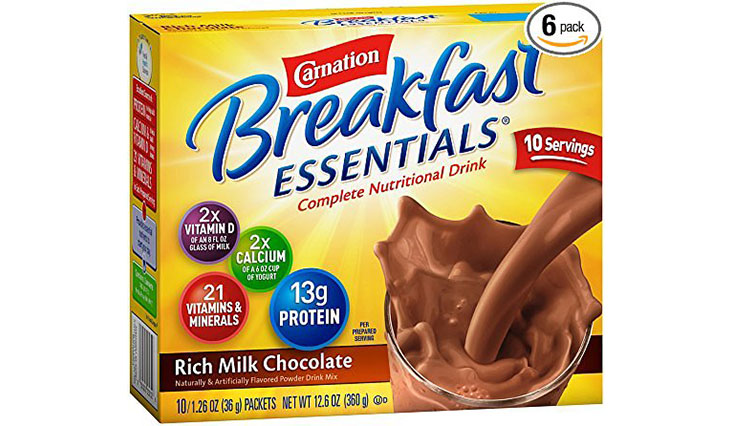 Carnation Breakfast Essentials, Rich Milk Chocolate Powder