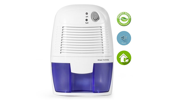 Removable Quiet Mini Compact Thermo-Electric Dehumidifier