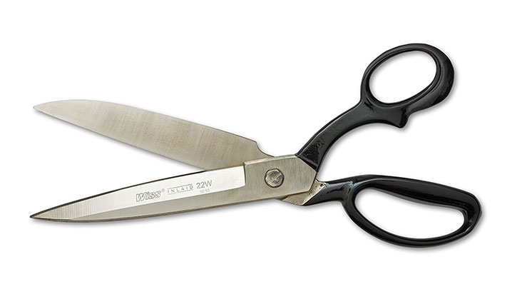 "Wiss 22WN 12 1/4"" Upholstery, Carpet, Drapery, and Fabric Shears, Inlaid"