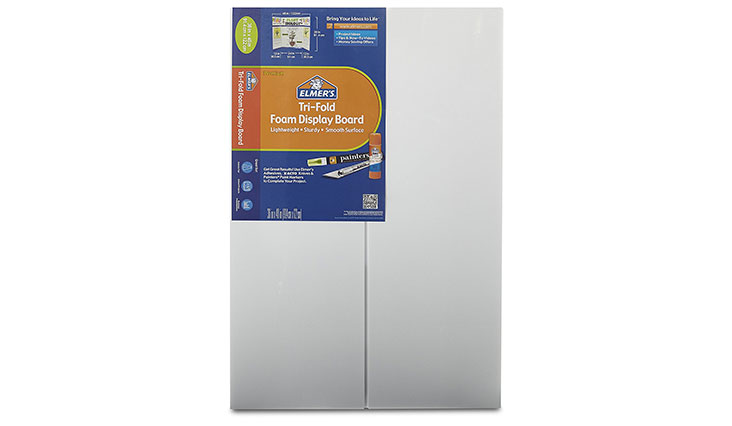Elmer's Tri-Fold Premium Foam Display Board