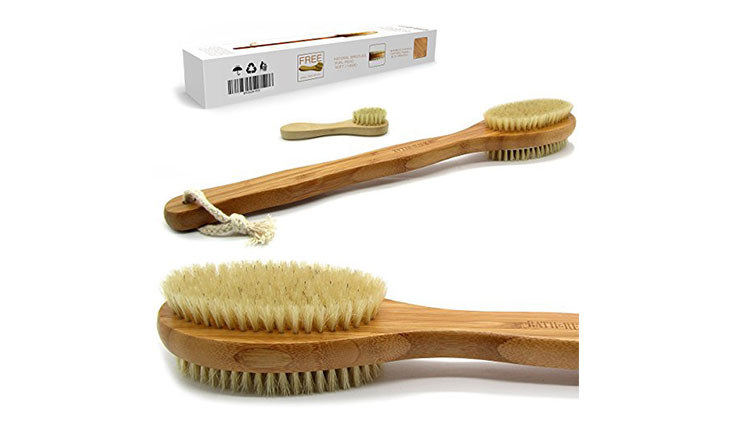 Bath & Relax Bamboo Back Body Scrubber Bath Brush