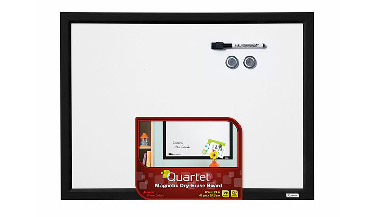 Quartet Dry Erase Board, Magnetic, 17 x 23 Inches, Black Frame (MWDW1723M-BK)