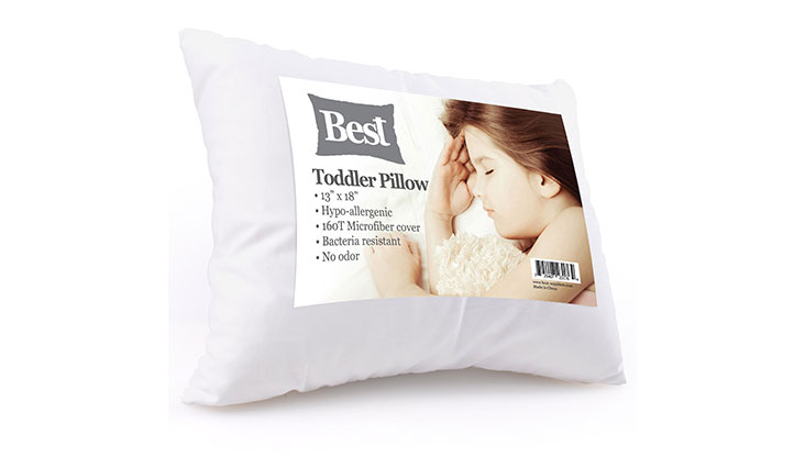 Best Toddler Pillow (INCREDIBLY SOFT - 100% HYPOALLERGENIC) No Pillowcase Needed! Allergy Free - White Microfiber Finish 13x18 - Provides Great Back & Neck Support for Any Toddler, Kid, or Child