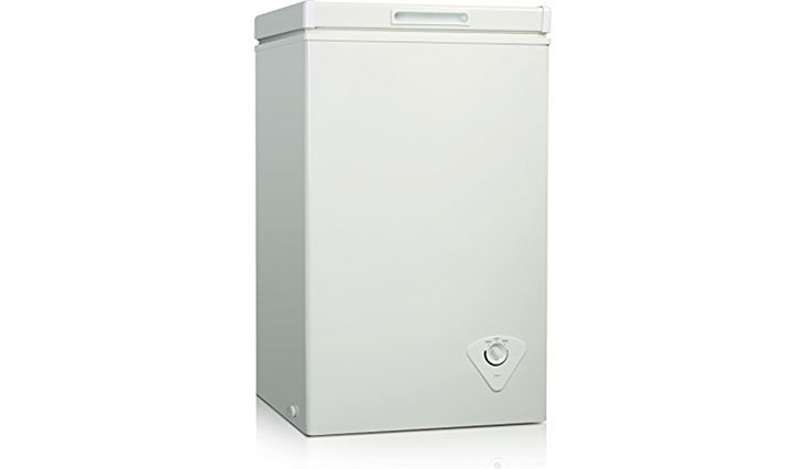 Midea WHS-79C1 Single Door Chest Freezer, 2.1 Cubic Feet, White