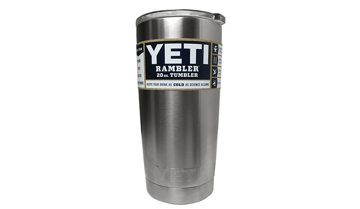 Taking one of the top positions, this tumbler will keep ice cold drinks as they are and hot drinks just as hot for several hours