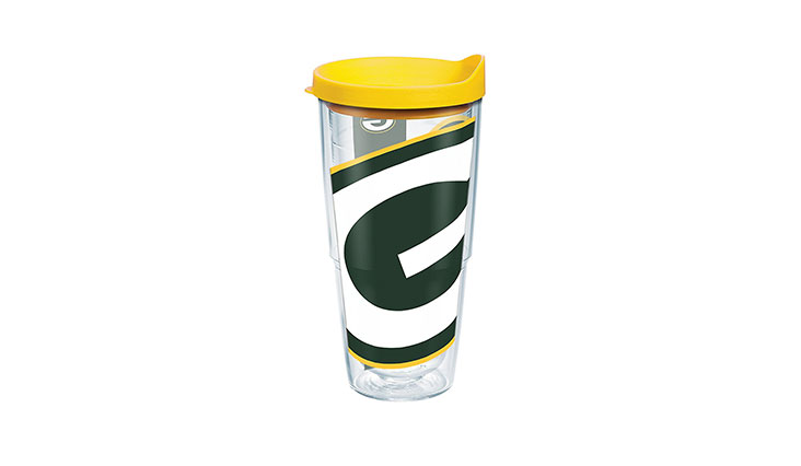 Those looking for something eye catching that they can easily identify even in a large office, this hot coffee tumbler comes with a bright colored and attractive design