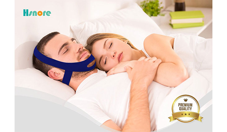 Best Snoring Solutions, Stop Snoring Devices, New Improved Version Adjustable Anti-Snore Chin Strap (Blue)