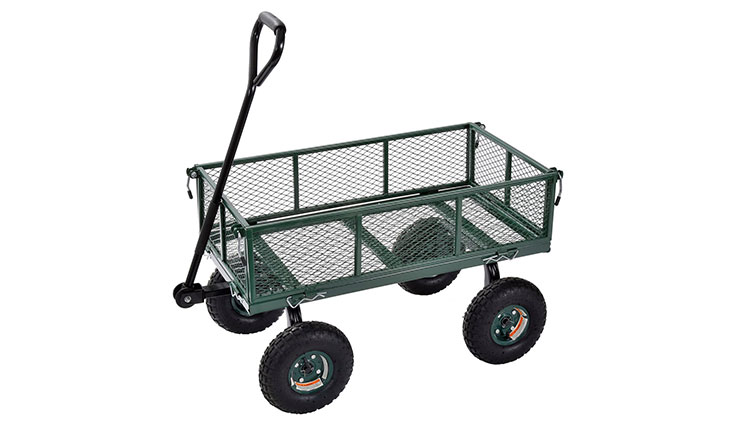 "Sandusky Lee CW3418 Muscle Carts Steel Utility Garden Wagon, 400 lb. Load Capacity, 21-3/4"" Height x 34"" Length x 18"" Width"
