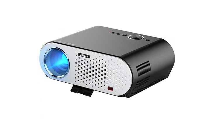 Video Projector Portable, CiBest GP90 LCD Projector HD 1080p 3200 Luminous Efficiency LED Multimedia Home Cinema Theater