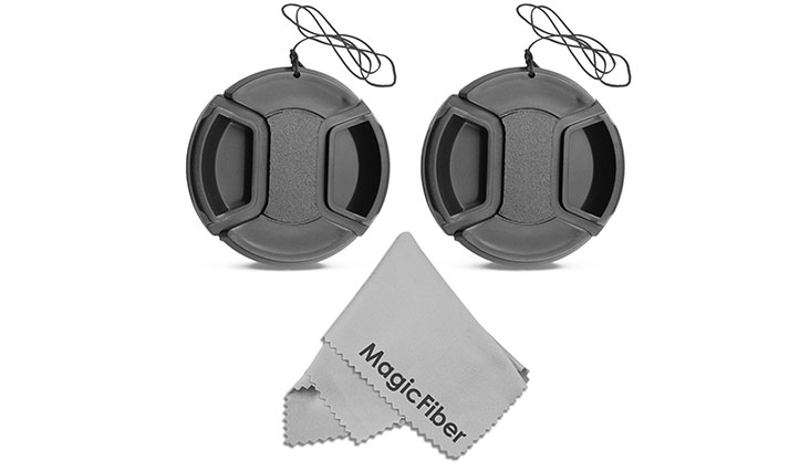 8mm Snap-On Center Pinch Lens Cap with Holder Leash