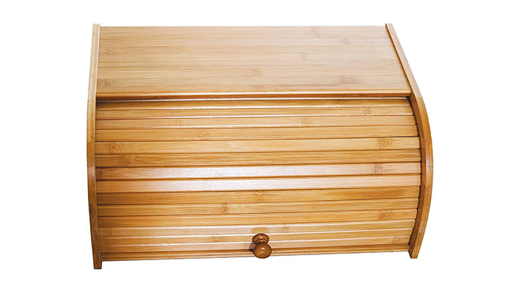 "Lipper International 8846 Bamboo Wood Rolltop Bread Box, 15-3/4"" x 10-3/4"" x 6-3/4"""