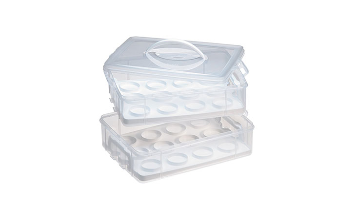 Snapware Snap 'N Stack Enter-Tainers 2 Layer Cupcake & Cookie Carrier