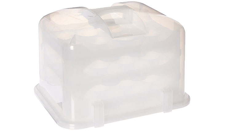 Cupcake Courier G0214B Cupcake Carrier- White Translucent