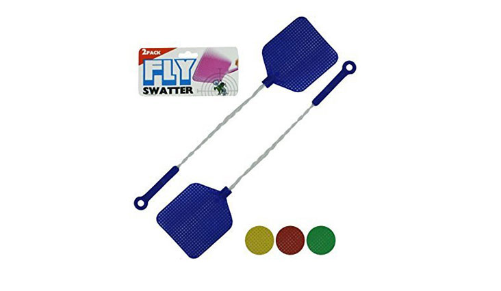 Fly Swatter With Wire Handles 2 Pack, Assorted Colors