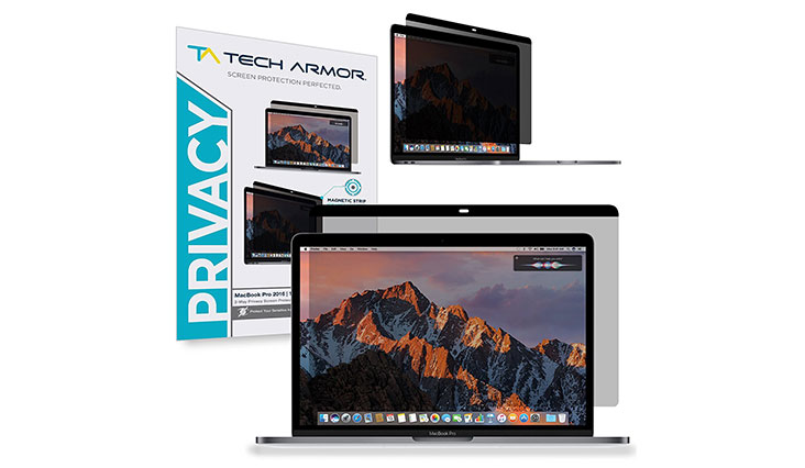 "Macbook Pro Privacy Screen Protector, Tech Armor Privacy Apple Macbook Pro Retina 13"" (2016/2017) Film, Easy Magnet Removal"