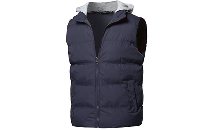 Youstar Men S Zip Up Closure Puffy Quilted Outdoor Vest Jacket