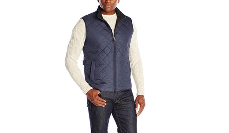 Hawke & Co Men's Diamond Quilt Vest