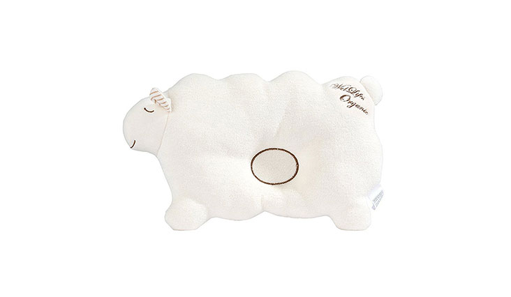 Baby Pillow For Newborn Organic Cotton to Prevent Flat Head lamb