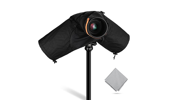 Powerextra Professional Waterproof Camera Rain Cover for Canon Nikon Sony and Other DSLR Cameras
