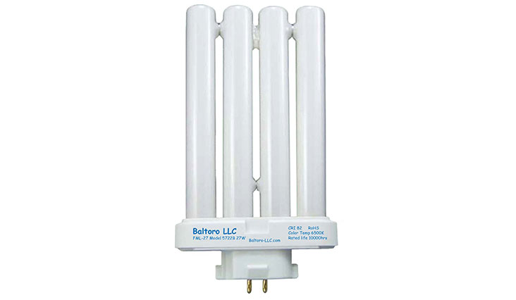 FML27/50 27 Watt Linear Quad Compact Fluorescent (CFL) Replacement Bulb for Sunlight desk or floor lamps FML27/EX-D FML27EX/N by Baltoro LLC