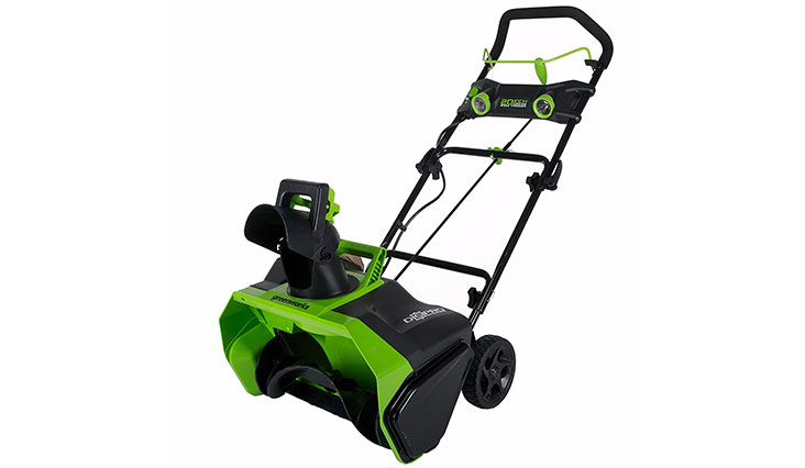 Greenworks 20-Inch 40V Cordless Brushless Snow Thrower, Battery Not Included 2601102