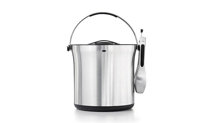 OXO SteeL Ice Bucket and Tongs Set