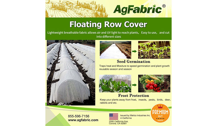 Agfabric Heavy Floating Row Cover and Plant Blanket, 0.9oz Fabric of 6x25ft for Frost Protection and Terrible Weather Resistant
