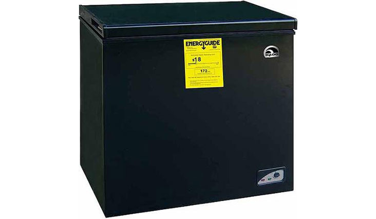 Igloo 5.1 cu ft Chest Freezer, Black