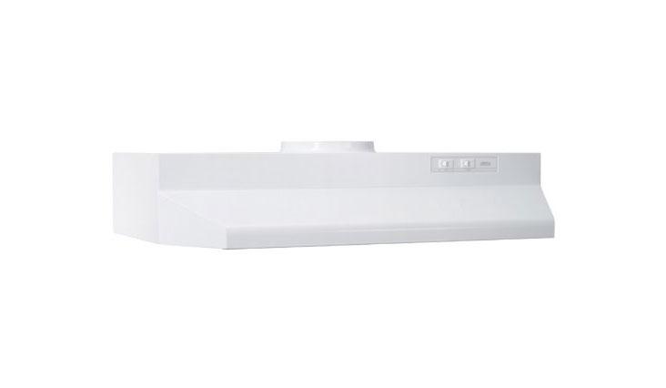 Broan 423001 ADA Capable Under-Cabinet Range Hood, 190 CFM 30-Inch, White