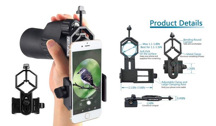 Fantronics Cellphone Adapter Mount Telescope Microscope Camera Holder