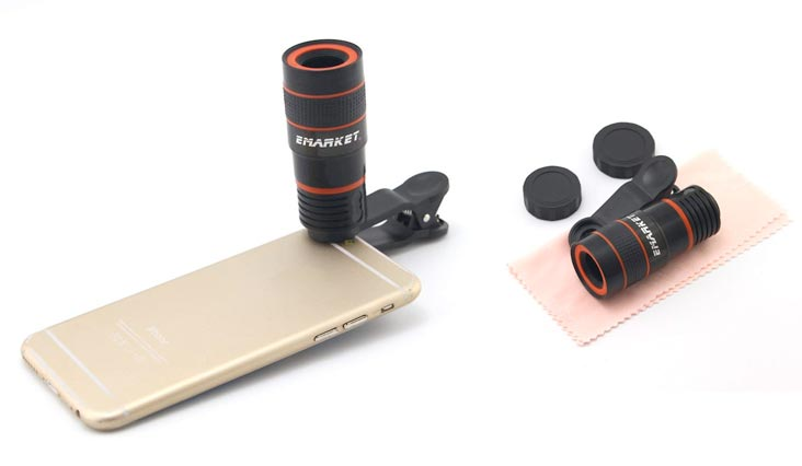 Emarket 8x Clip Telescope Camera Lens