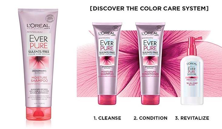L'Oreal Paris Hair Care Ever Pure Moisture Shampoo, 8.5 Fluid Ounce