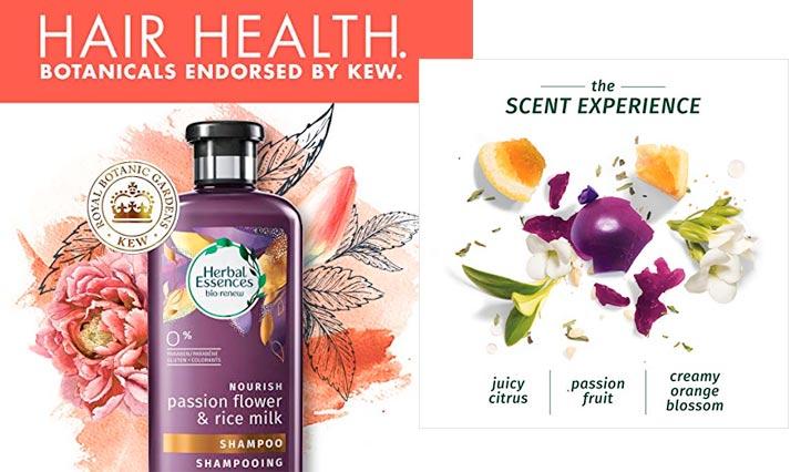 Herbal Essences Passion Flower & Rice Milk Shampoo, 13.5 Fluid Ounce