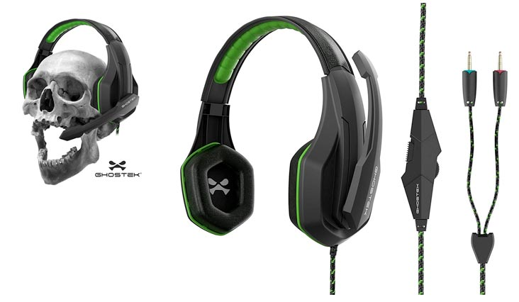 Hero Series Gaming Headphones Over-Ear | 3.5MM Jack | PC Video Gaming |120° Microphone Rotation + Mute Switch | Integrated Volume Control | Ultra Resistant Braided Cable (Green)