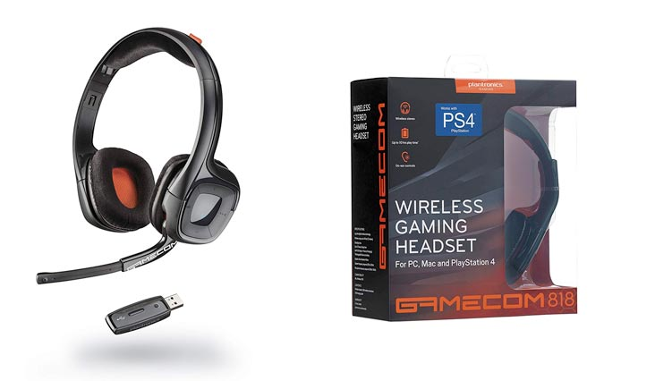 GAMECOM 818 Wireless Stereo HEADSET EXTENDED GAMING SESSIONS PC, MAC PLAYSTATION 4