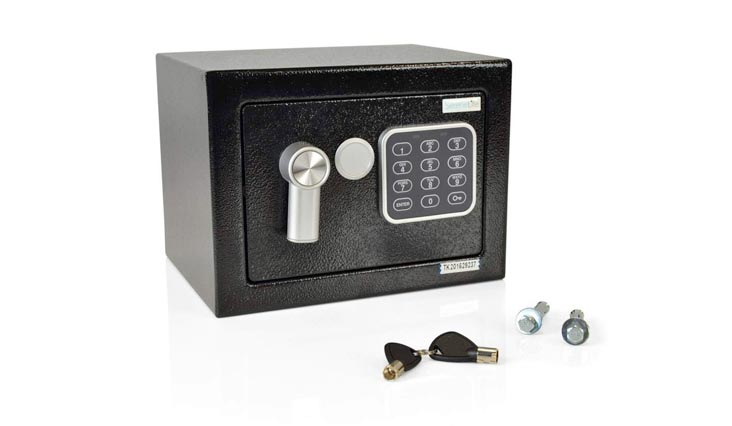 Fireproof Lock Box, Fireproof Box, Safe, Safes, Safe Box, Safes And Lock Boxes, Money Box, Fire Proof Safety Boxes for Home, Digital Safe Box, Steel Alloy Drop Safe, Includes Keys