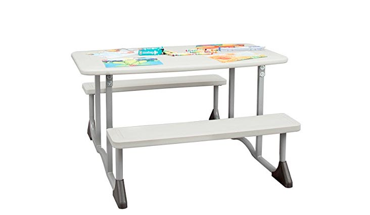 Sprogs Children's Blow-Molded Picnic Table, Gray