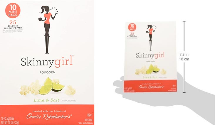 Skinny Girl Lime & Salt 10 Mini Bags (Pack of 2)