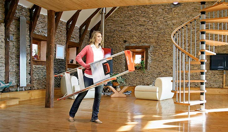 Flip-N-Lite 300-Pound Duty Rating 6-foot Stepladder with Platform